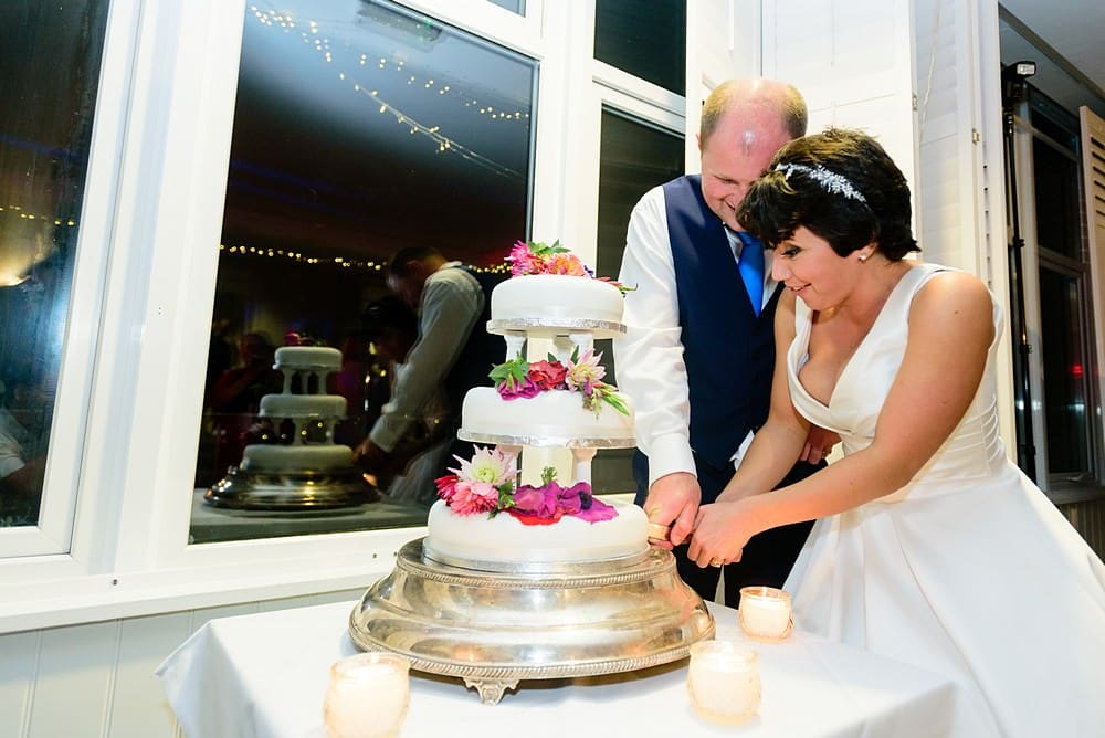 Cutting of the cake at St Ives Harbour Hotel
