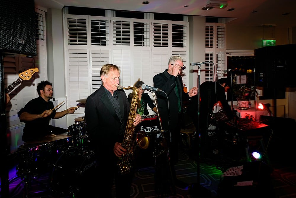 SANDY ACRE 7 playing at the St Ives Harbour Hotel