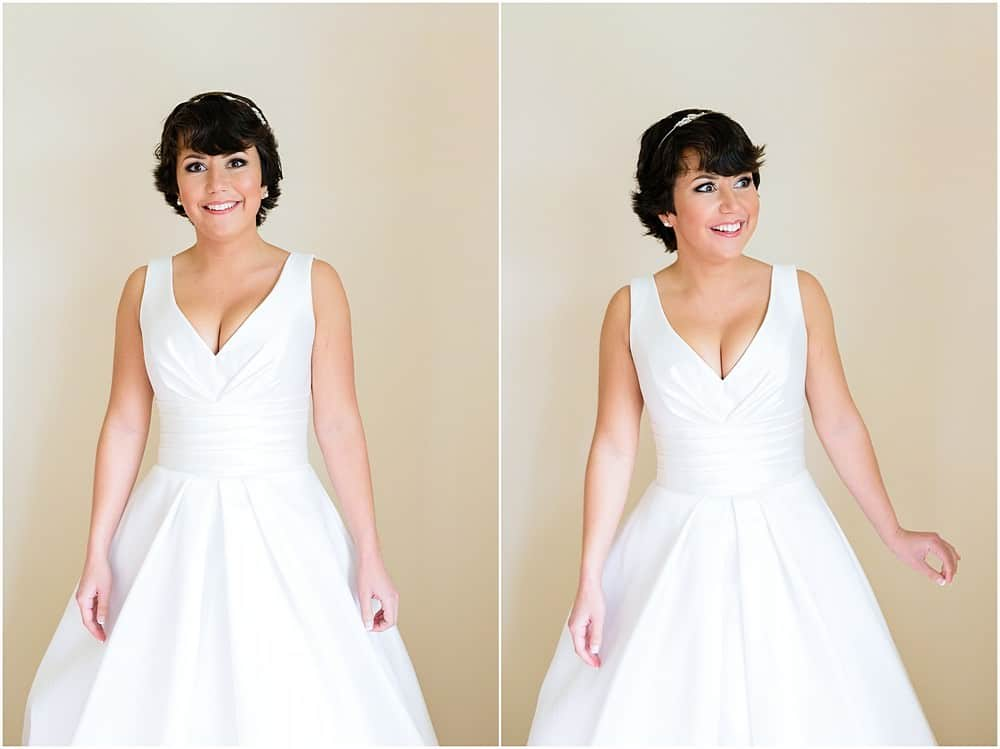 Stunning bride at her wedding at St Ives Harbour Hotel