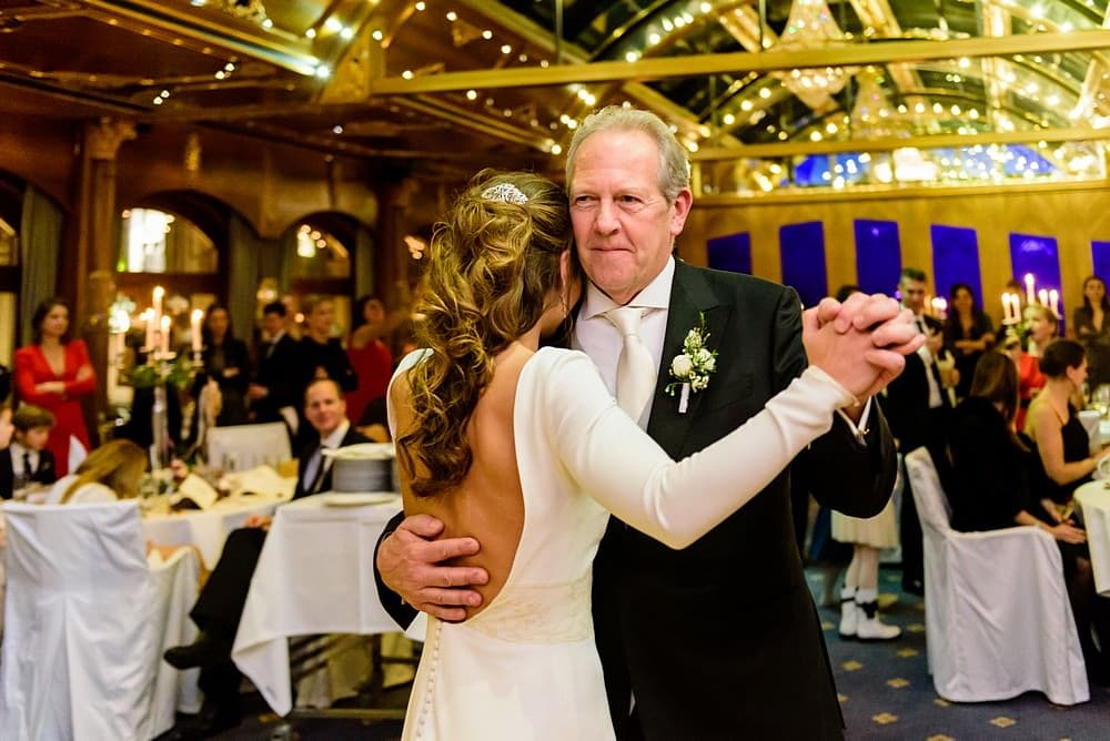 father of the bride first dance at the Zermatterhof