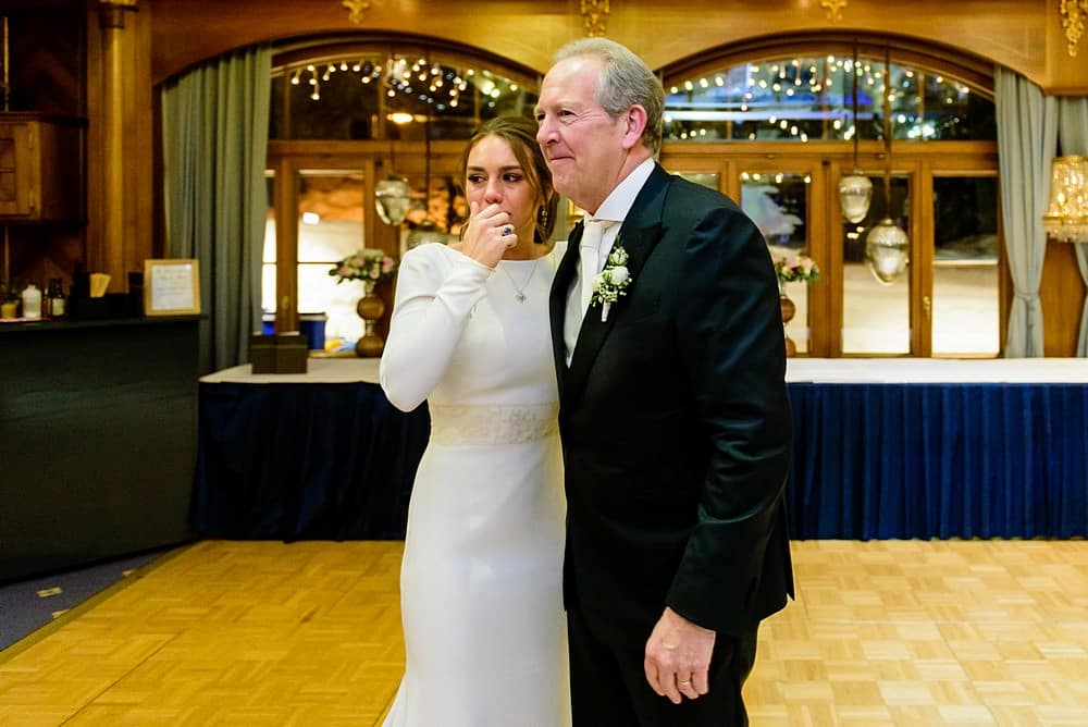 emotional bride at her wedding at the Zermatterhof