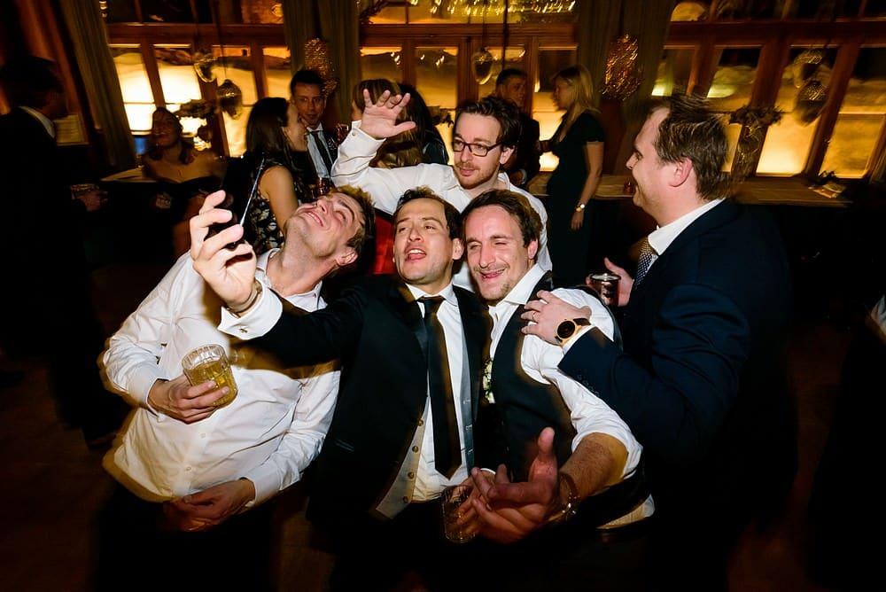 wedding selfies at a Zermatt wedding