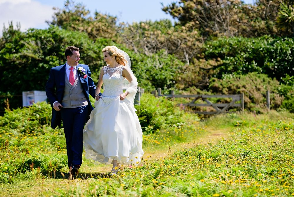Candid wedding photography on the Isles of Scillies