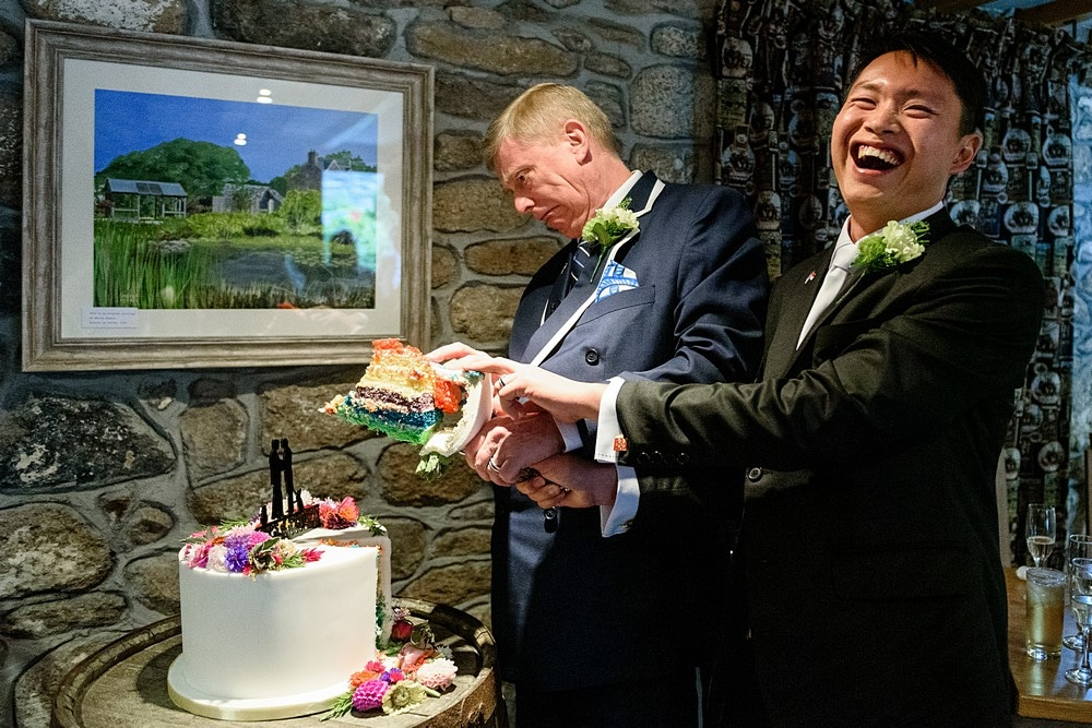 gay wedding in Cornwall