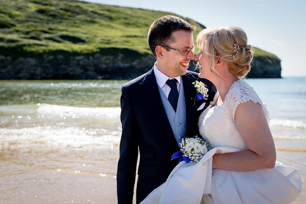 Best wedding photography at Bedruthan Steps