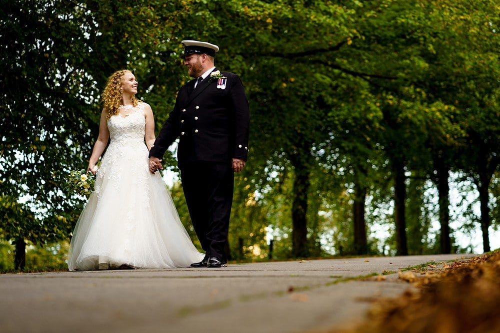 military wedding in Devon