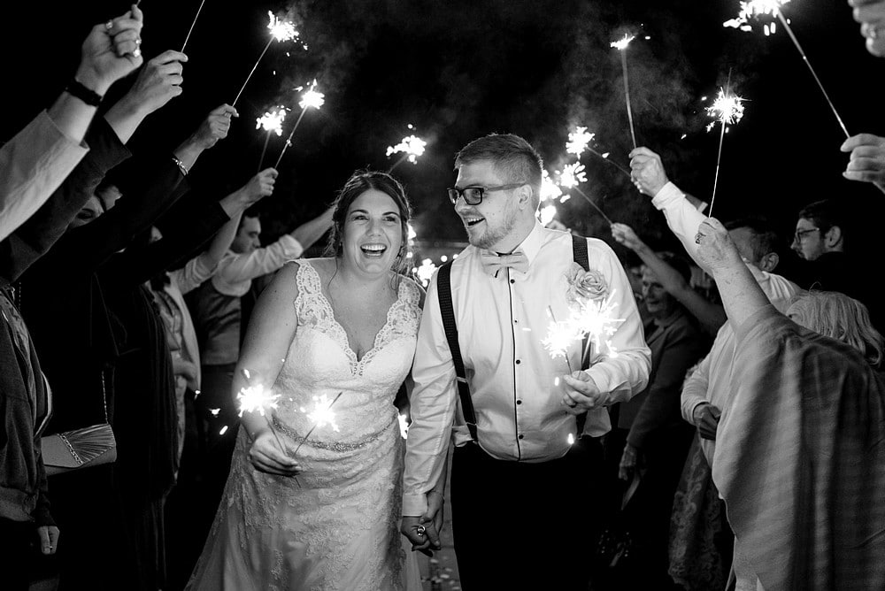 sparkler wedding photography in Wiltshire