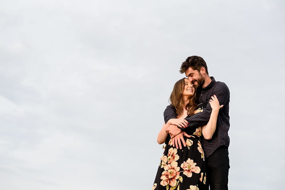 engagment shoot in Cornwall