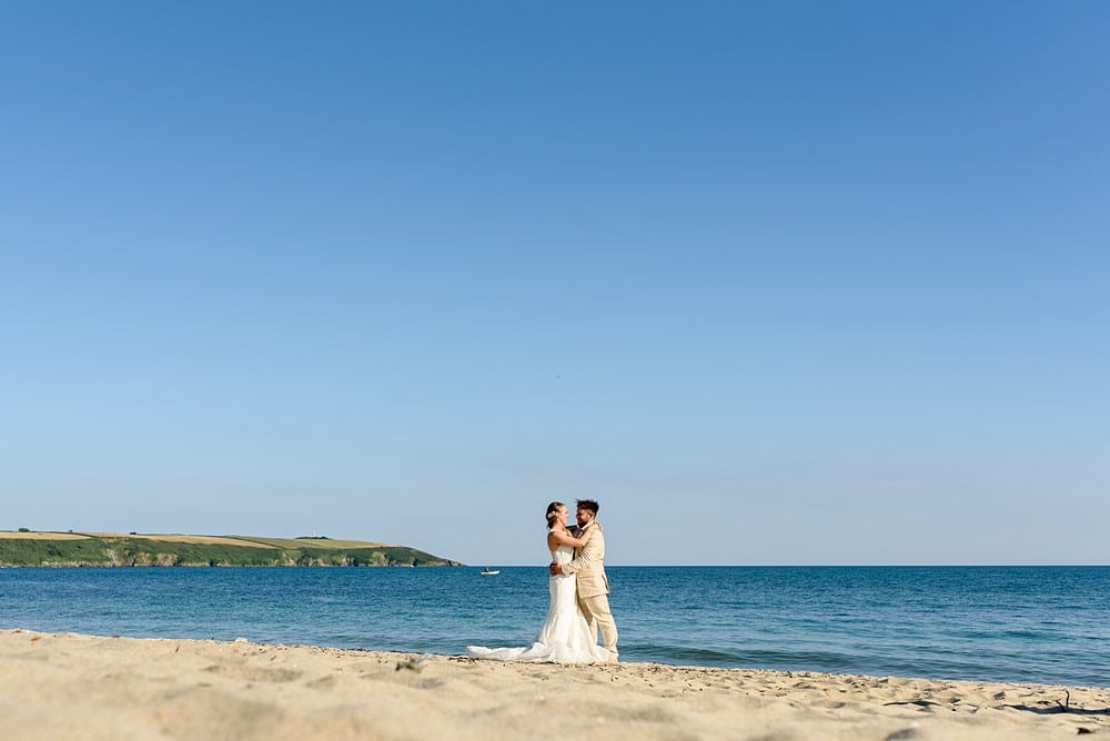 beach wedding in Cornwall