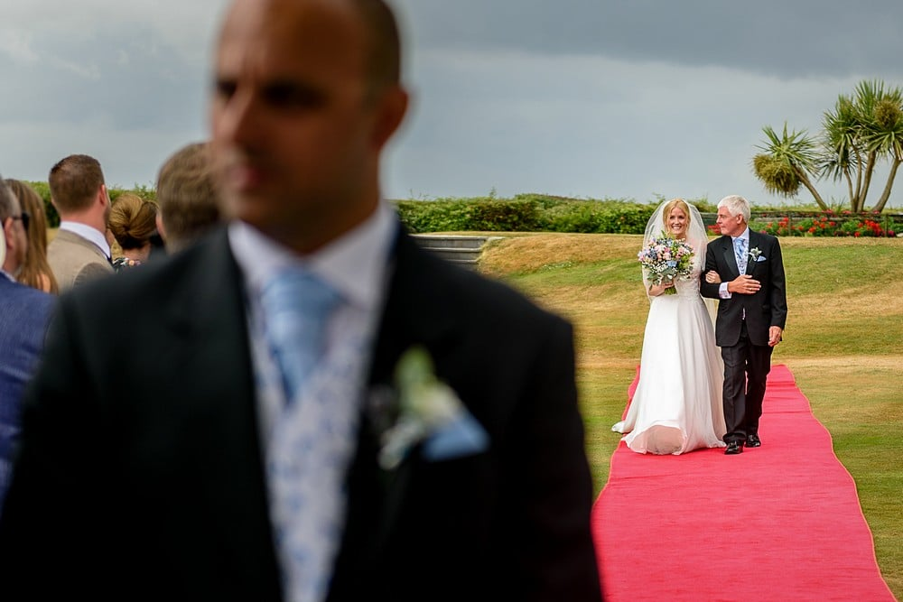 wedding ceremony at Carlyon Bay Hotel