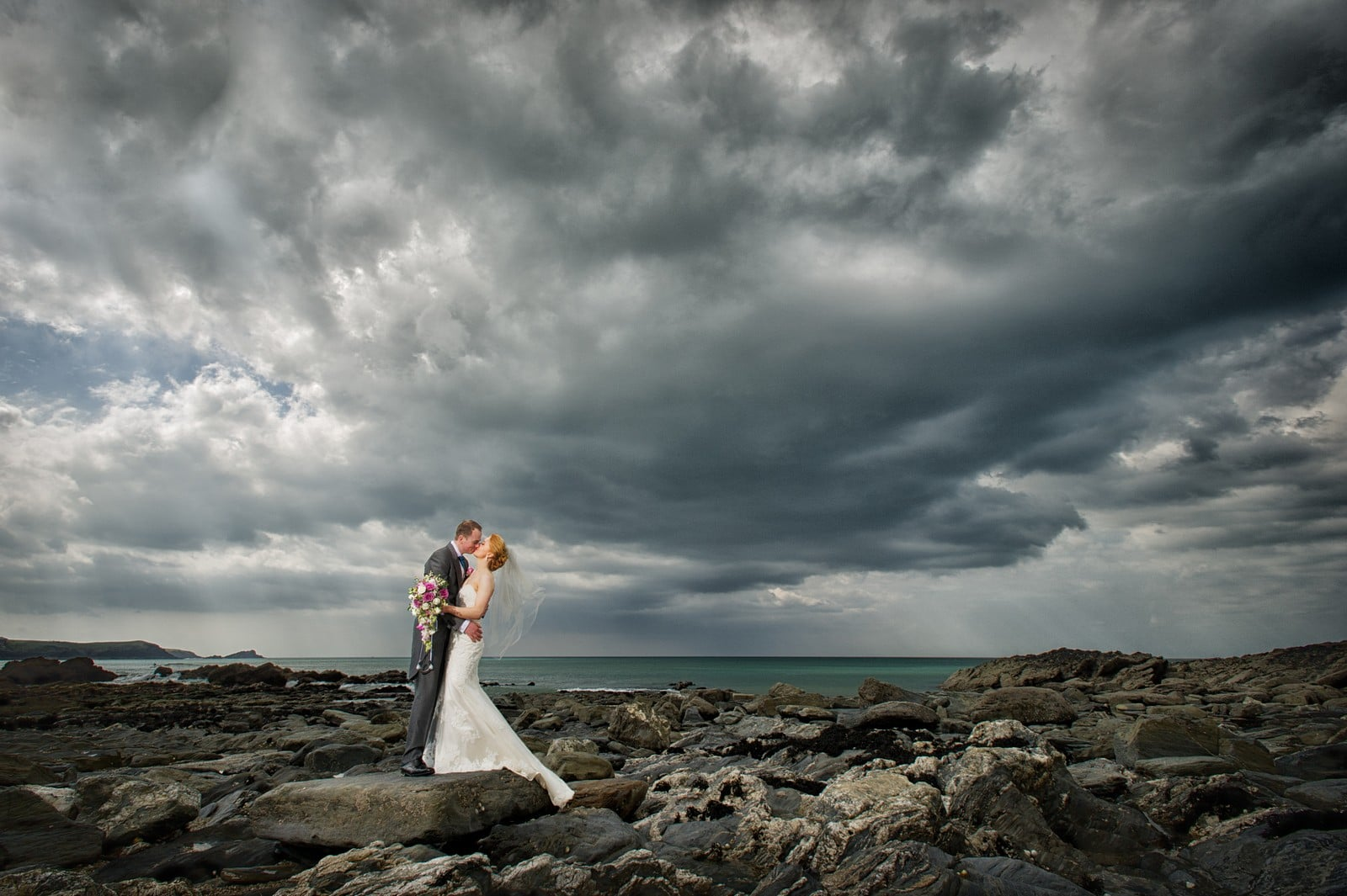 Elopement wedding photographer cornwall