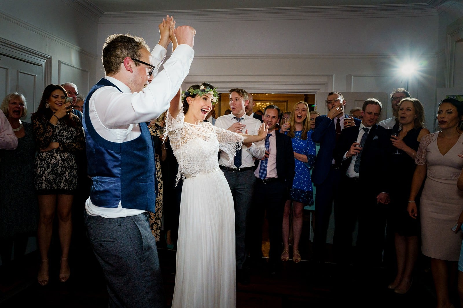 First dance wedding photography at the Rosevine hotel 1