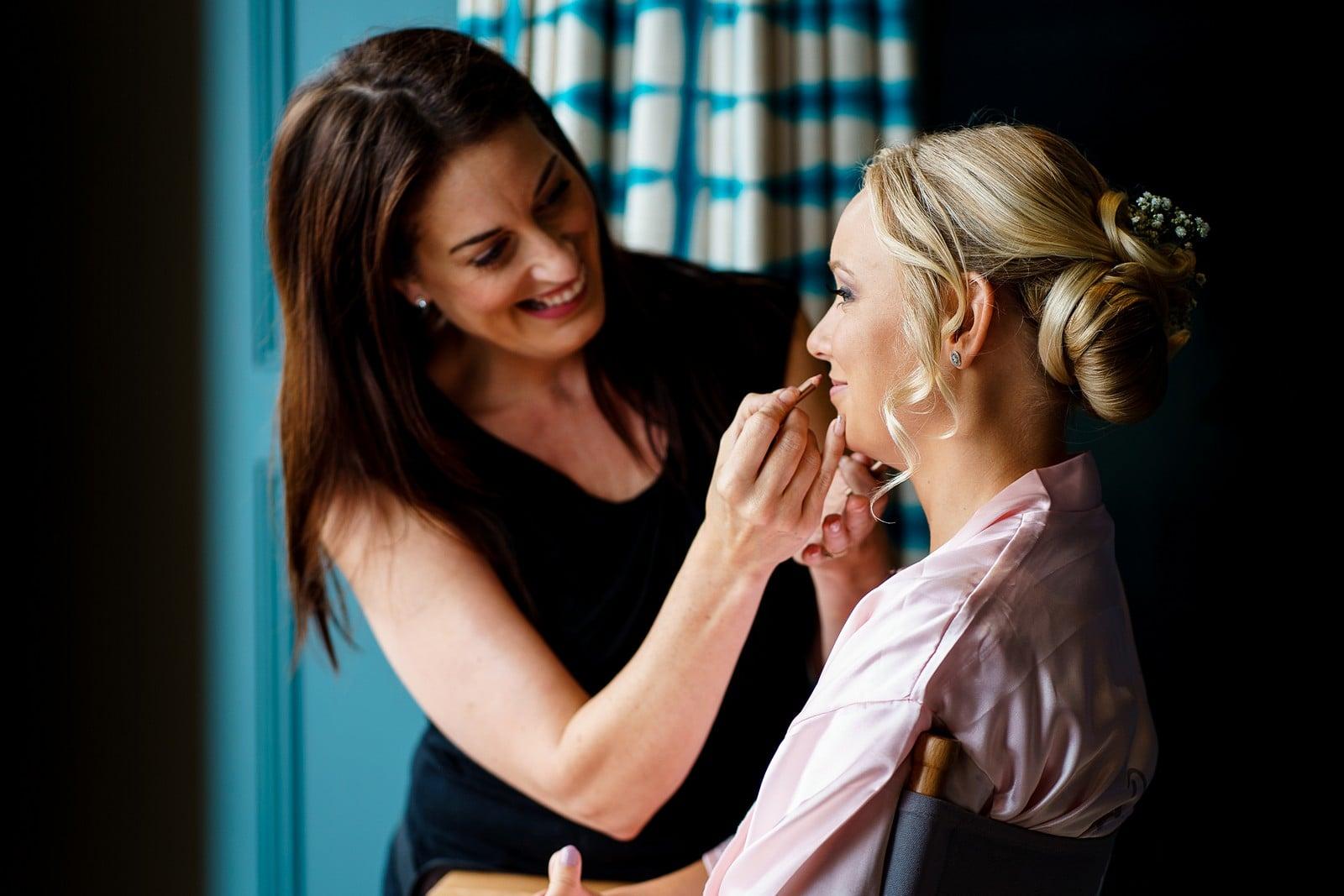 make up by Sally Orchard at a Falmouth Wedding