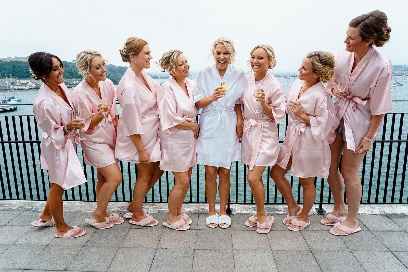 Bridesmaids getting ready at the Greenbank Hotel