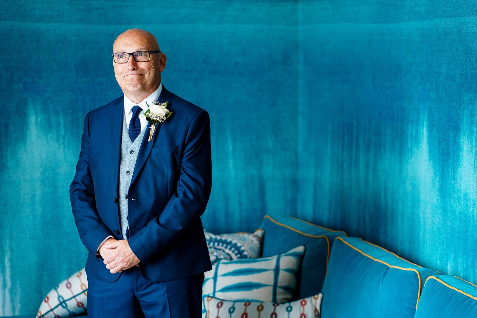 nervous father of the bride at the Greenbank Hotel wedding