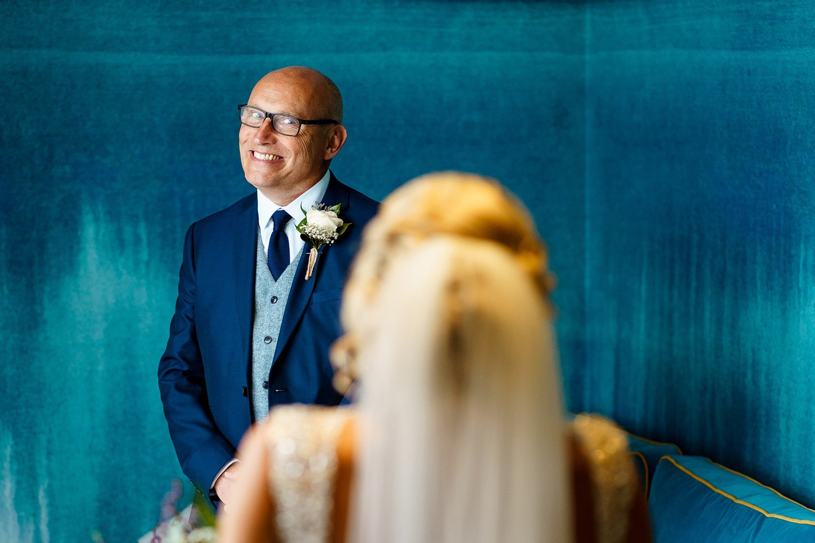Happy Father of the bride at the greenbank hotel