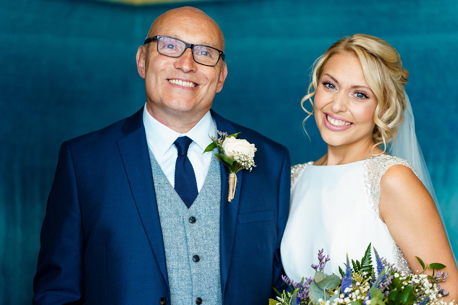 father of the bride at the greenbank hotel wedding in Falmouth