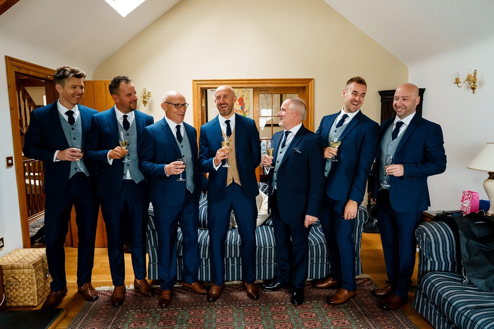 Groommen getting ready for a wedding in Falmouth