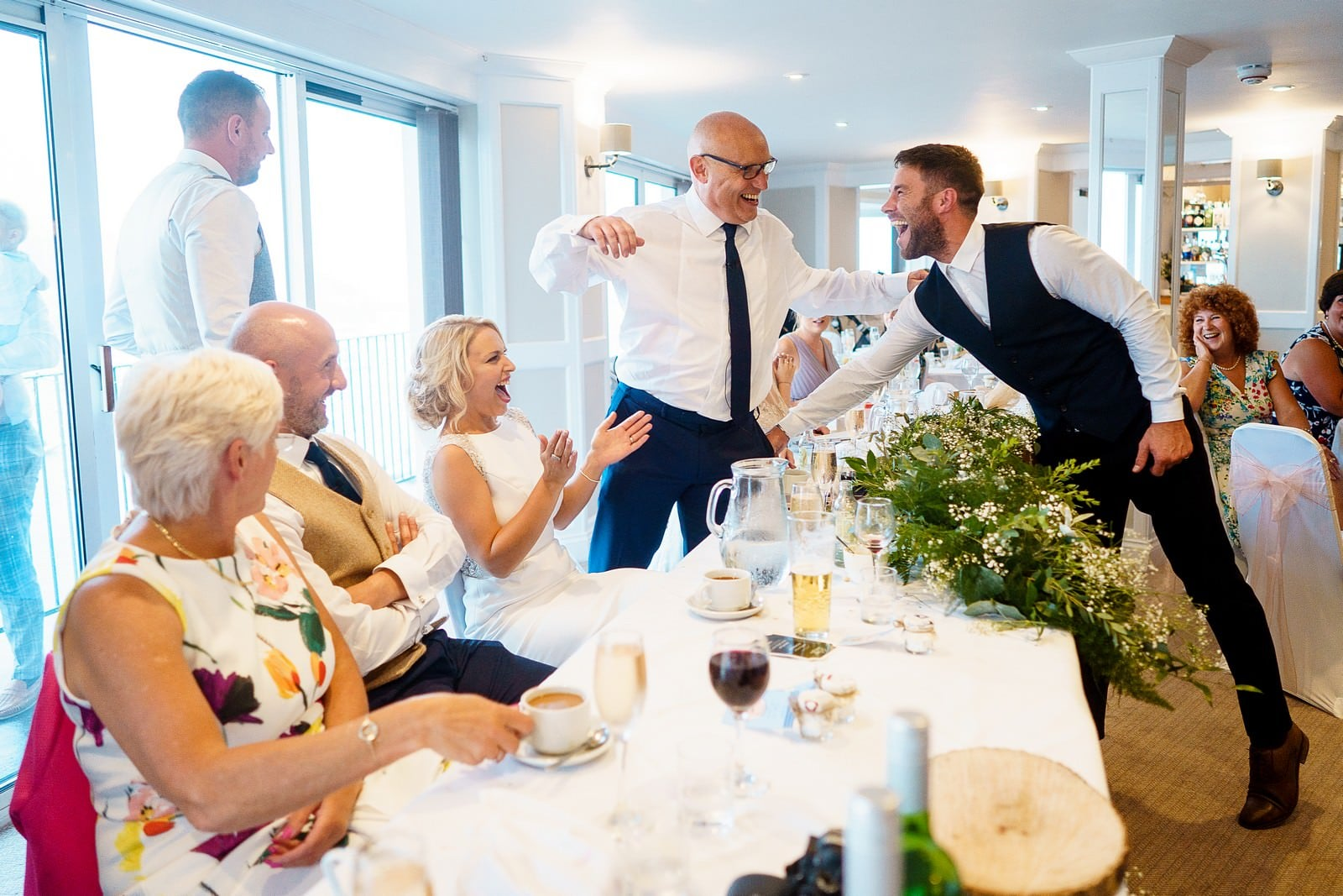 father of the bride doing his speech at the greenbank hotel