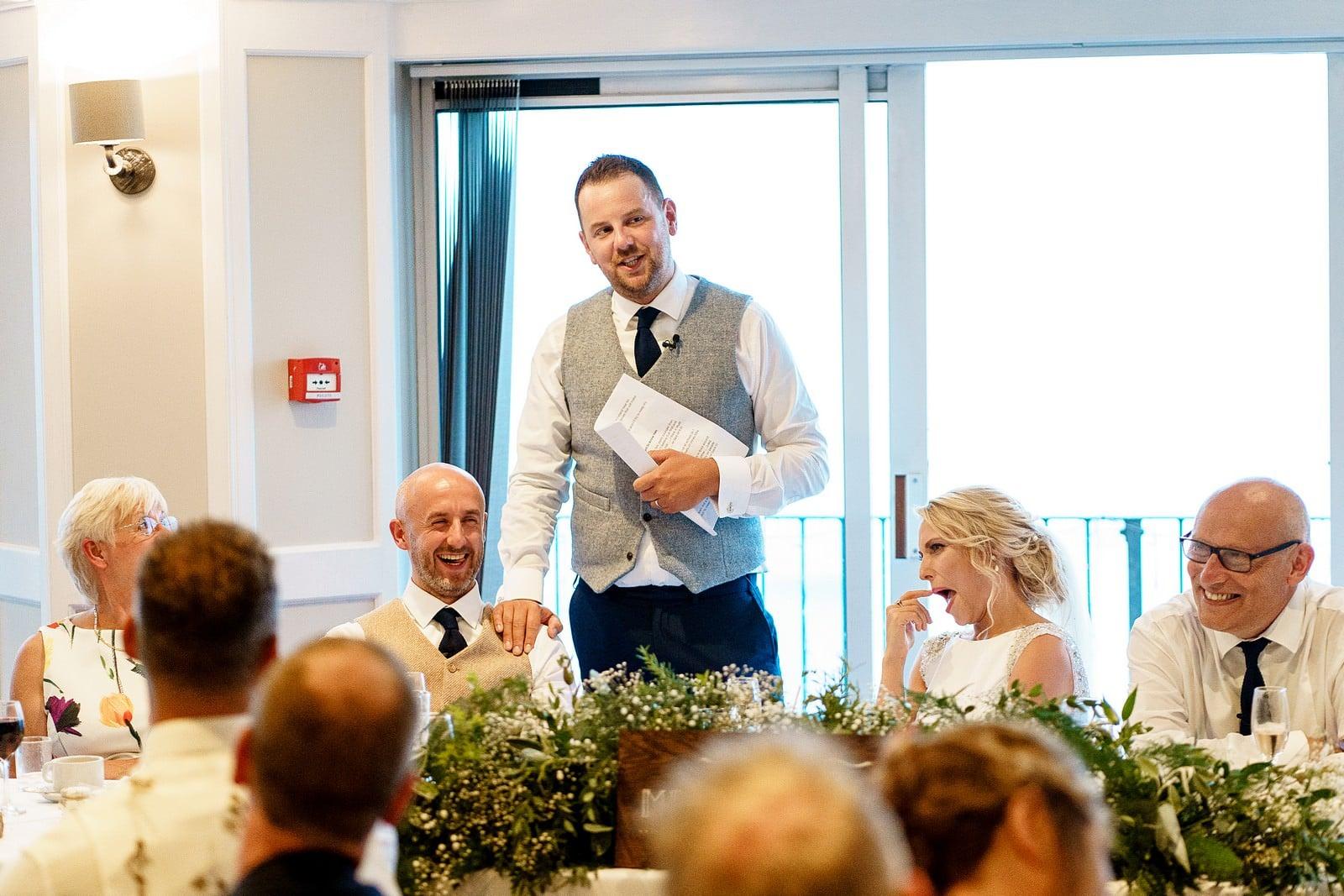 best man wedding speech at the greenbank hotel