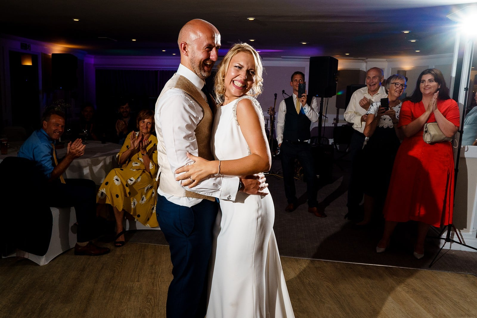 bride and groom first dance at the greenbank hotel wedding