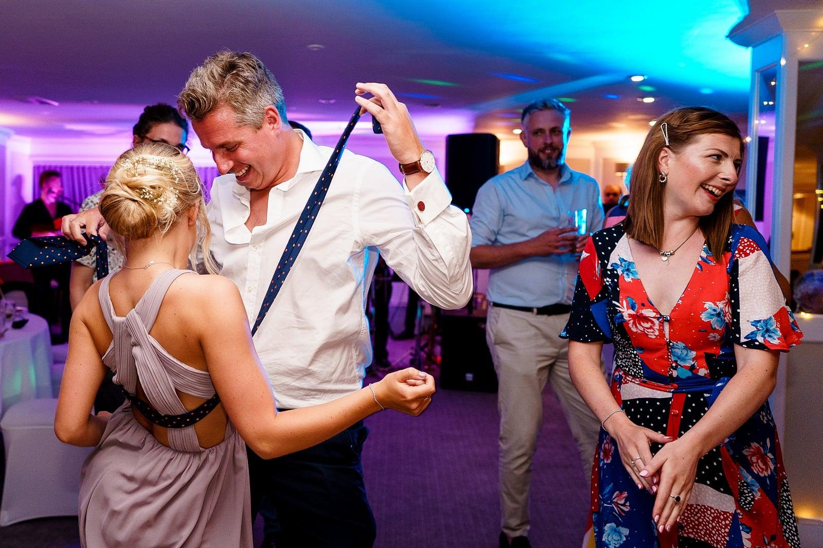 fun dance floor wedding photography at the Greenbank hotel