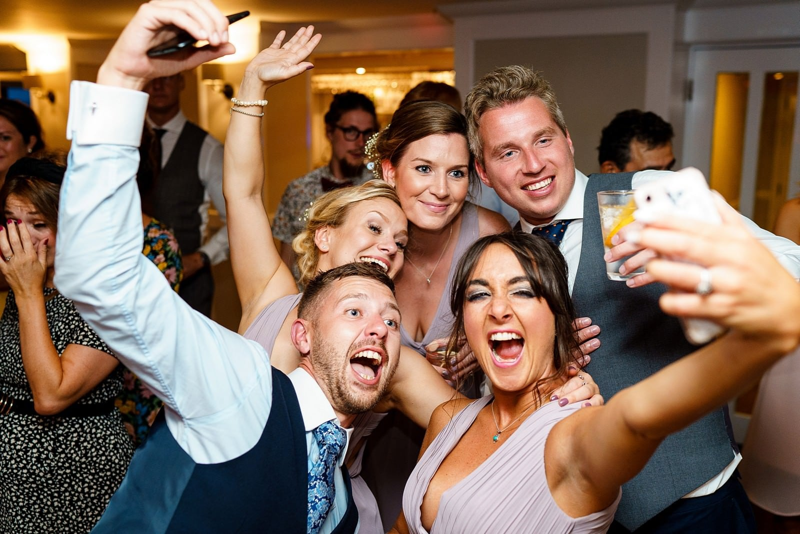wedding selfie at the greenbank hotel wedding