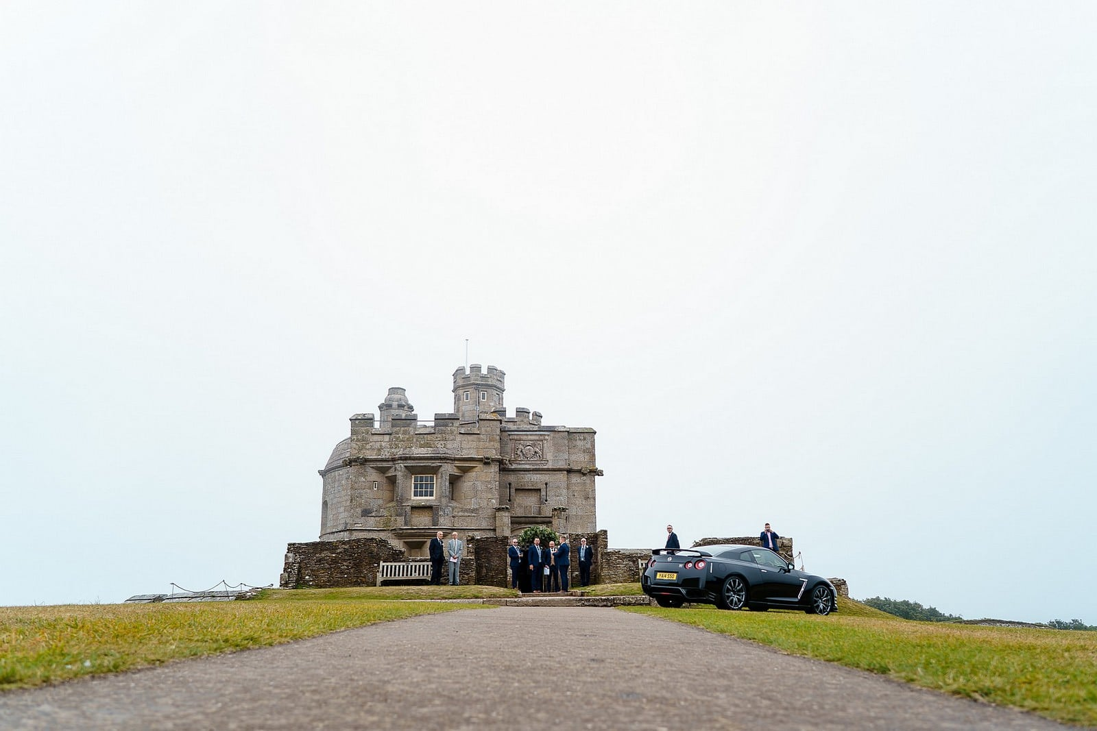 Castle wedding in Falmouth