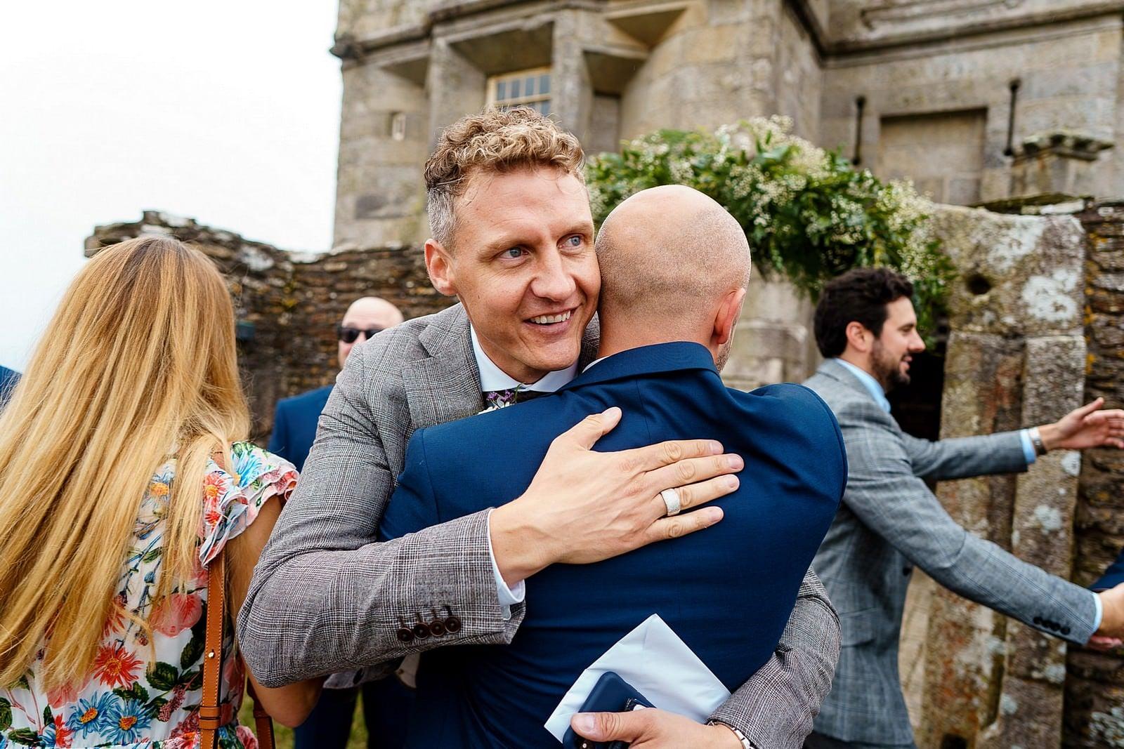 Wedding guest at Pendennis Castle