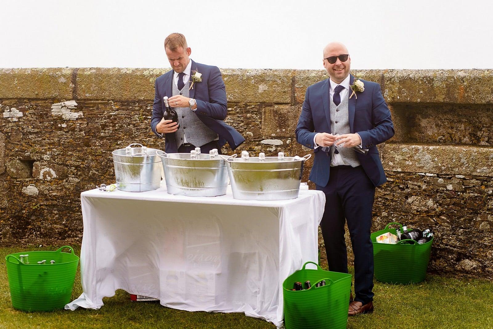 Wedding drinks at Pendennis Castle