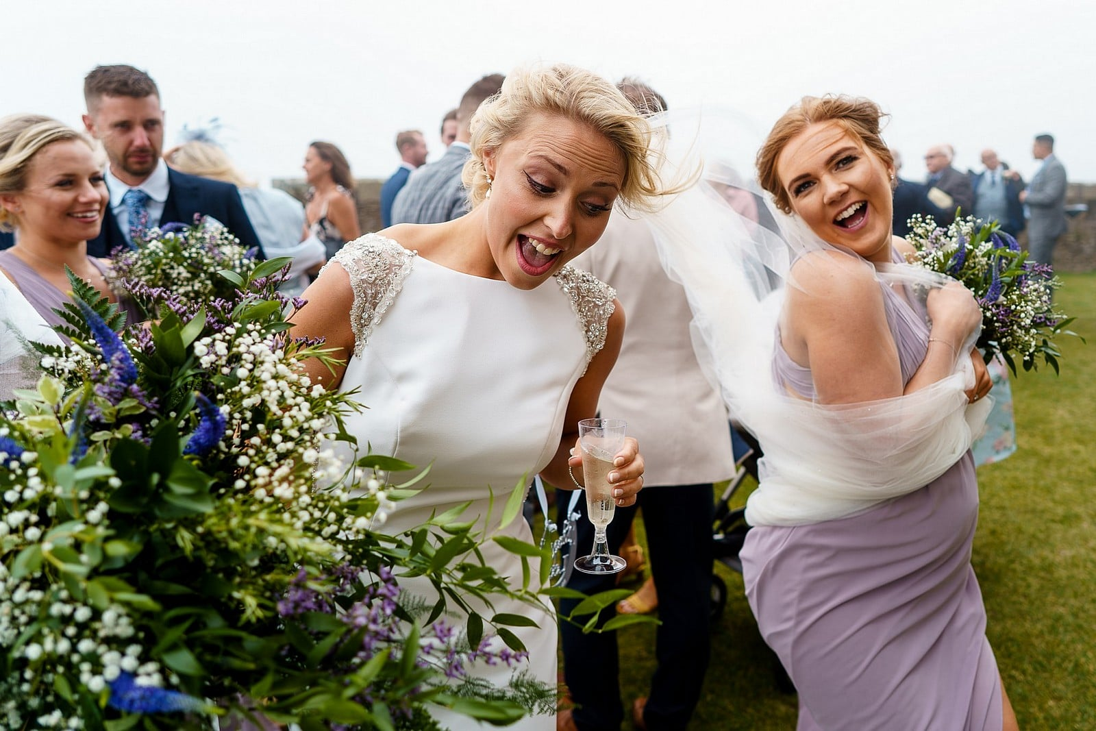 Candid wedding photography at Pendennis Castle