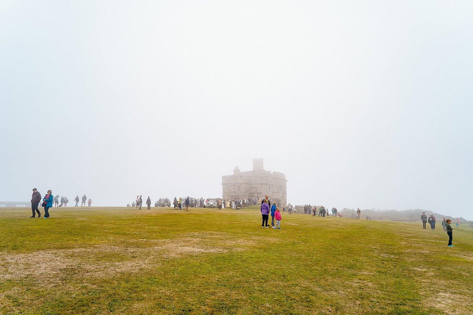 Big wedding at Pedennis Castle