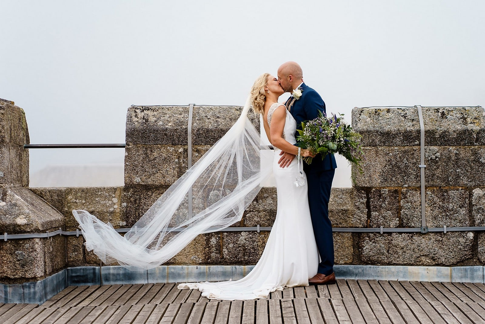wedding photography at Pendennis Castle 1