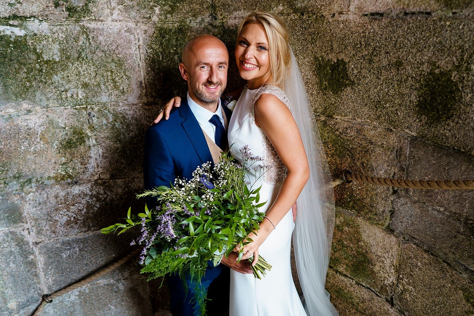 Beautiful wedding photos at Pendennis Castle