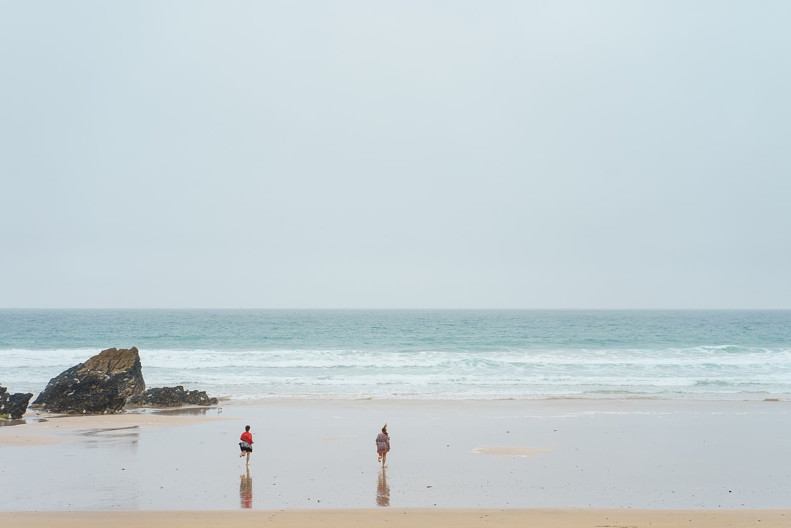 beach wedding at lusty glaze