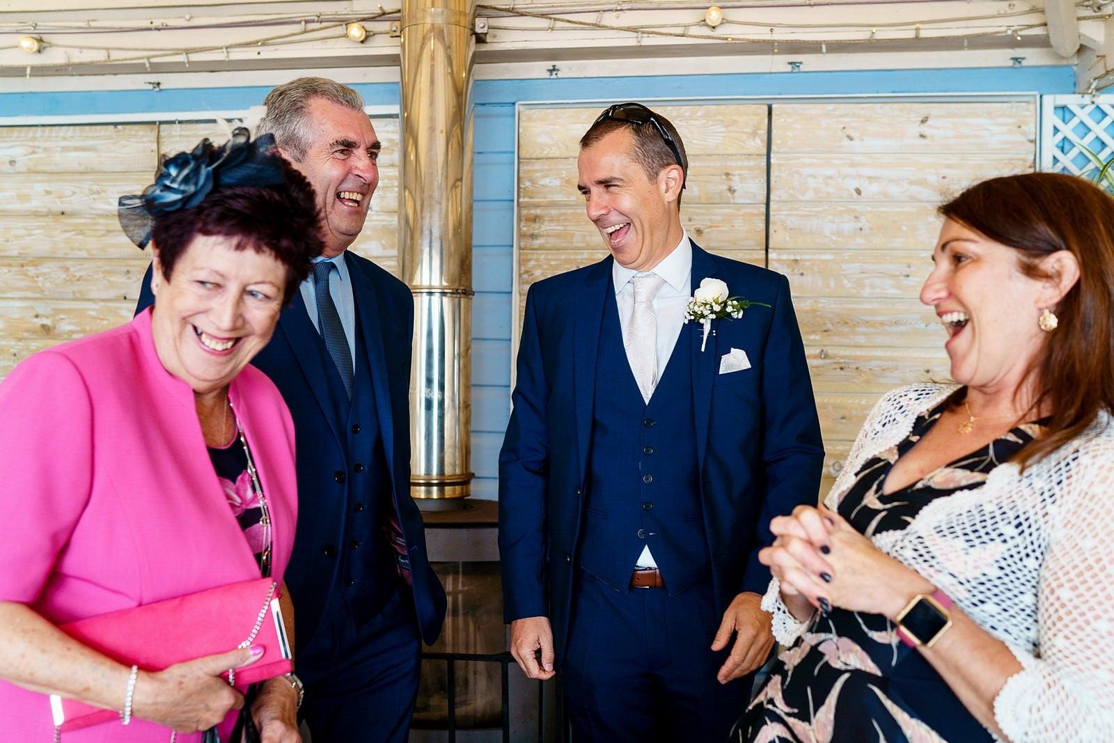 wedding guests at a lusty glaze wedding