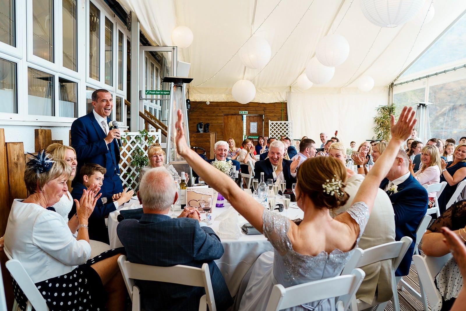 wedding speeches at Lusty glaze