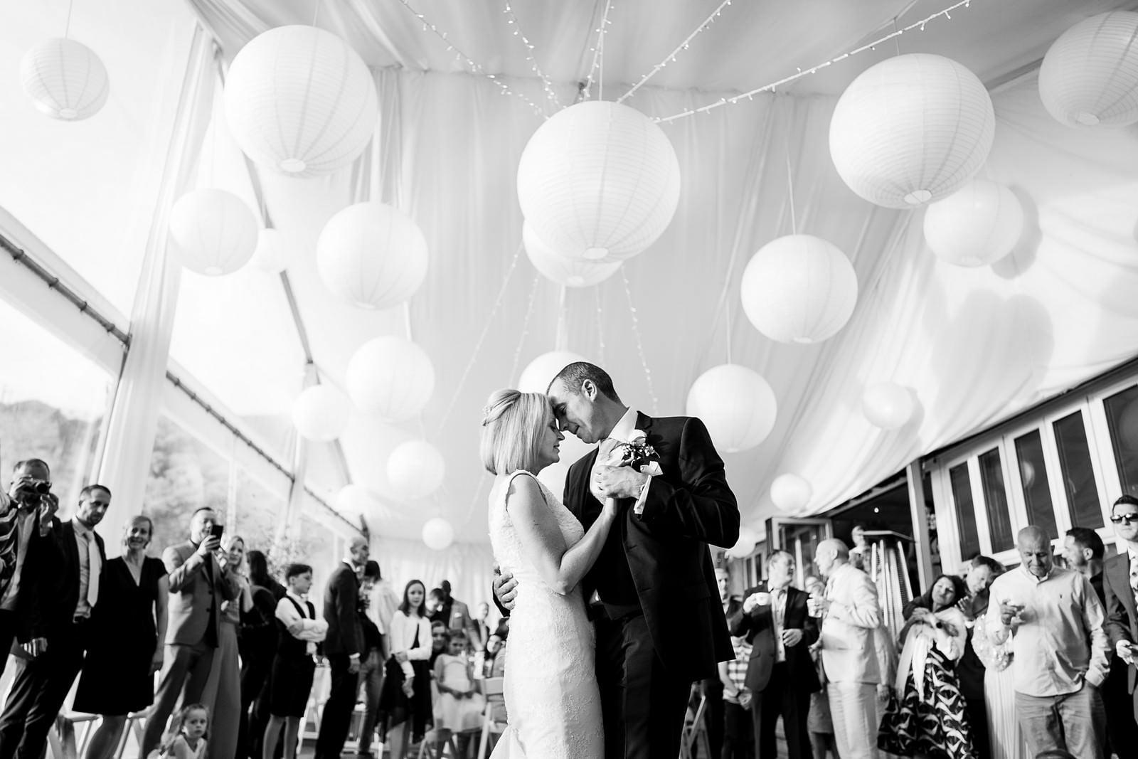 wedding first dance at lusty glaze