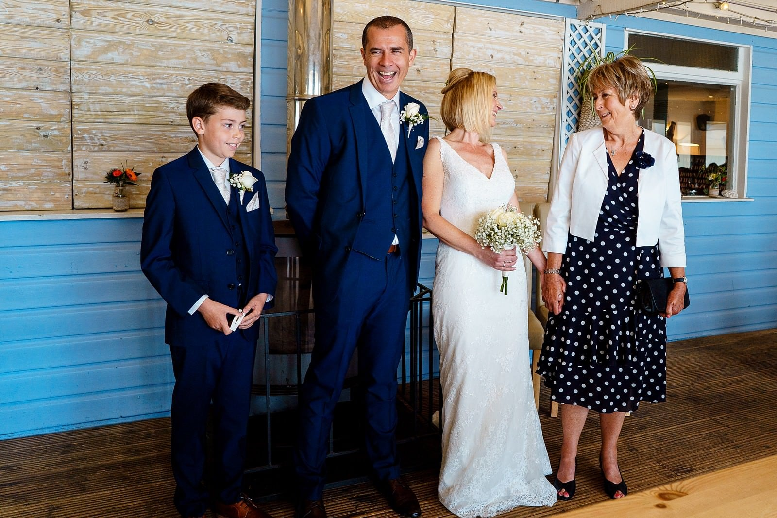 indoor wedding ceremony at lusty glaze