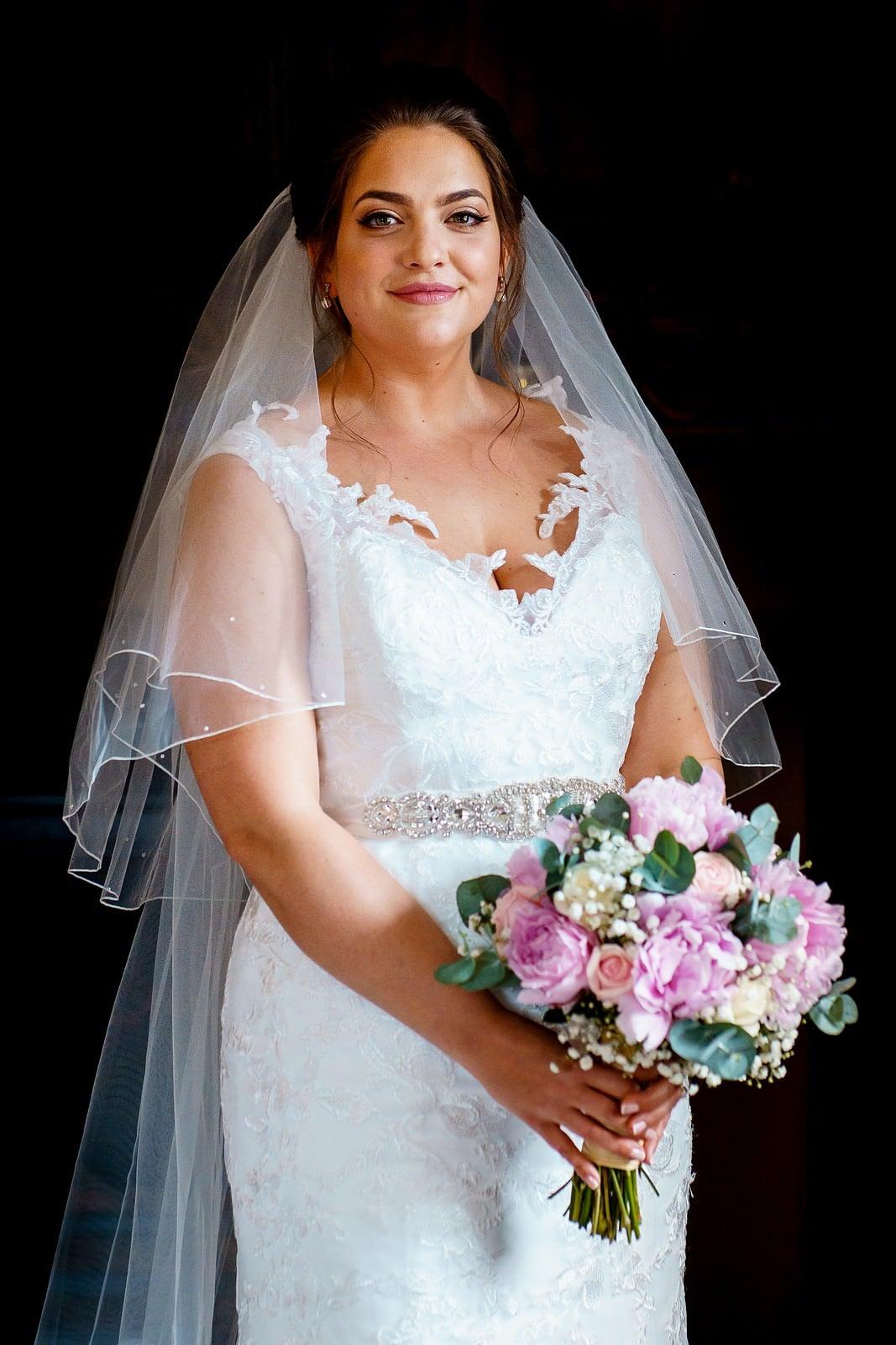 Beautiful bride at a ufton court wedding 1