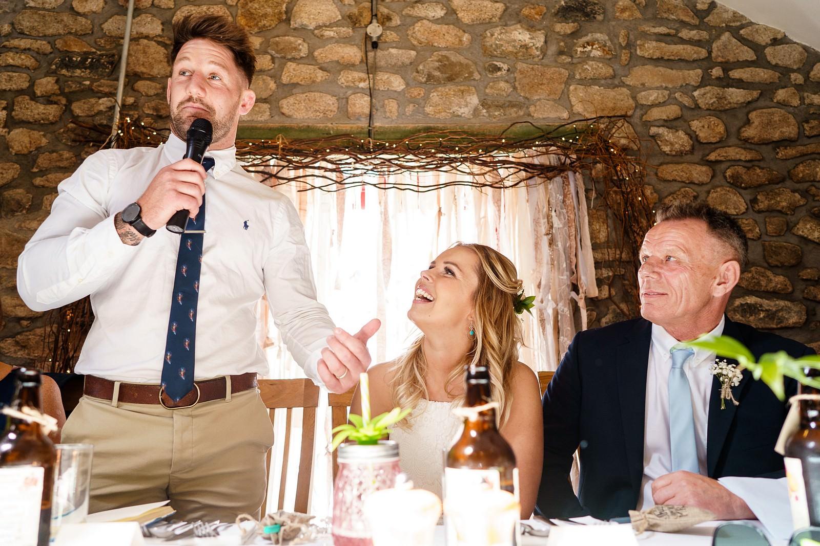 Groom's speech at knightor winery 72
