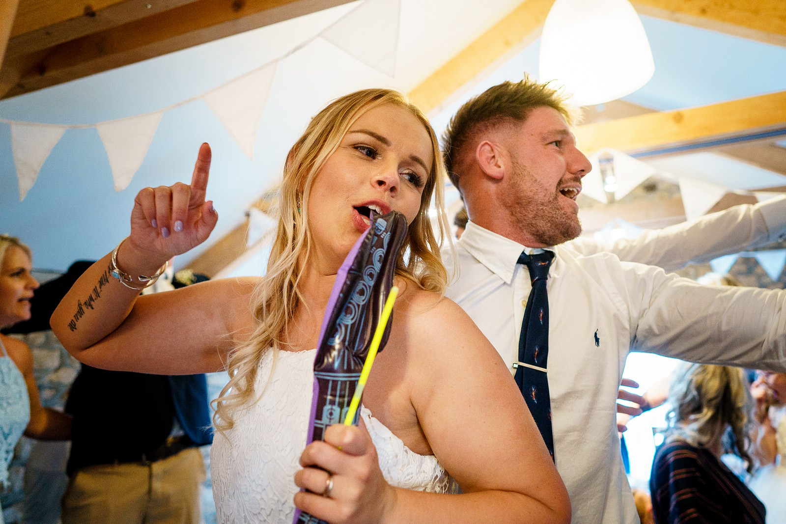 crazy wedding party at knightor winery 103