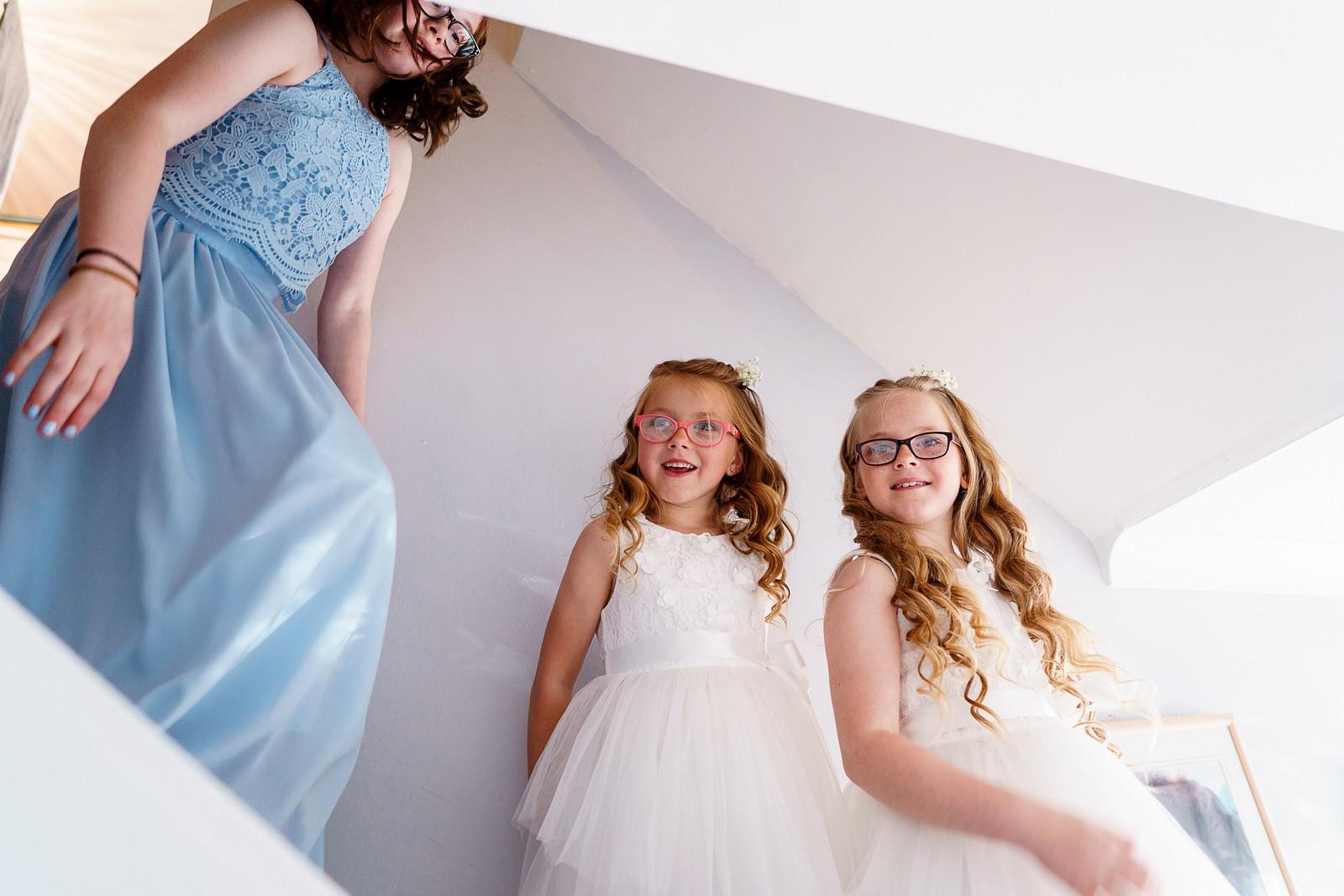 flower girls getting ready for a knightor winery wedding 17