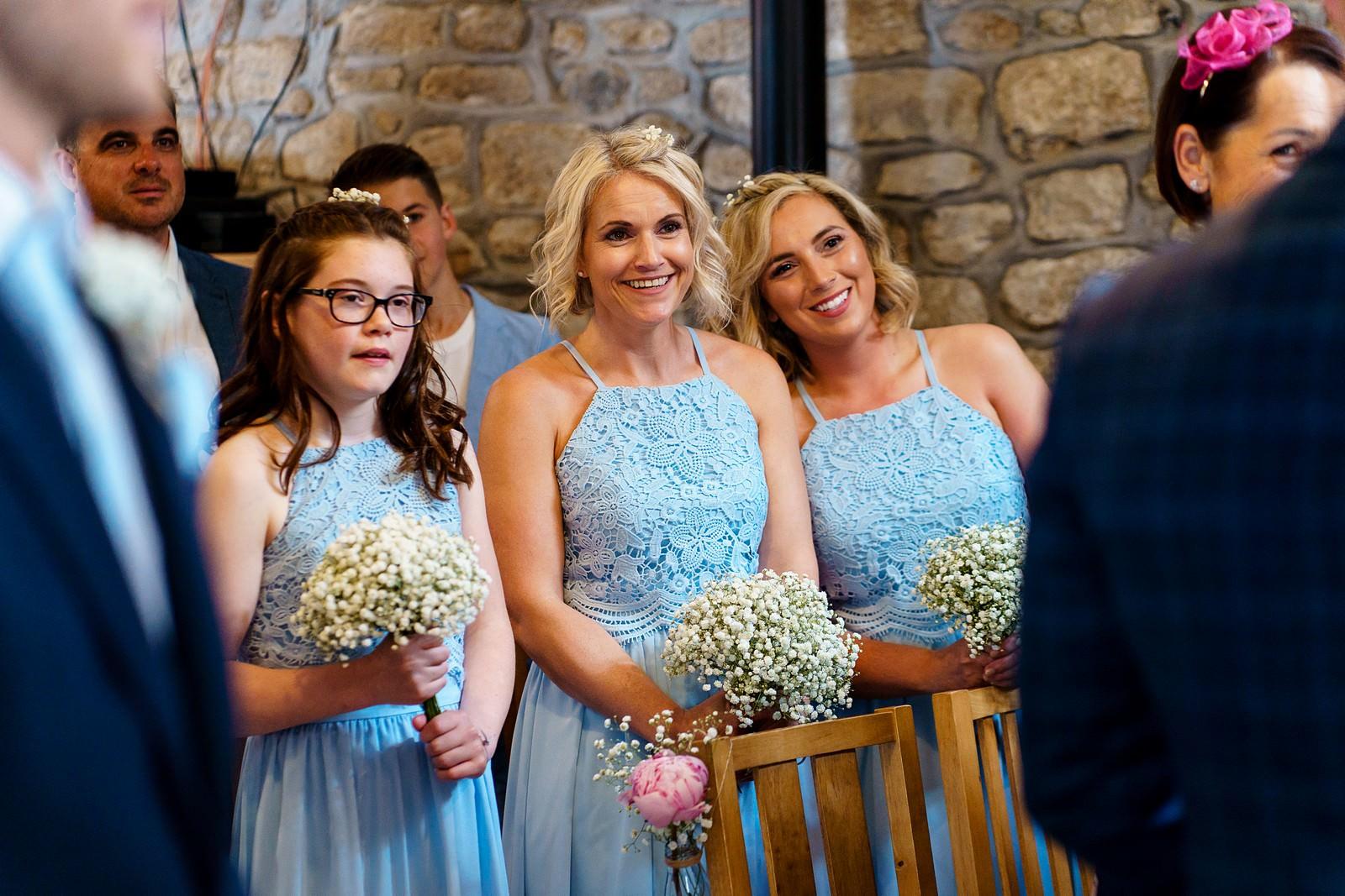 happy bridesmaids at knightor winery 42