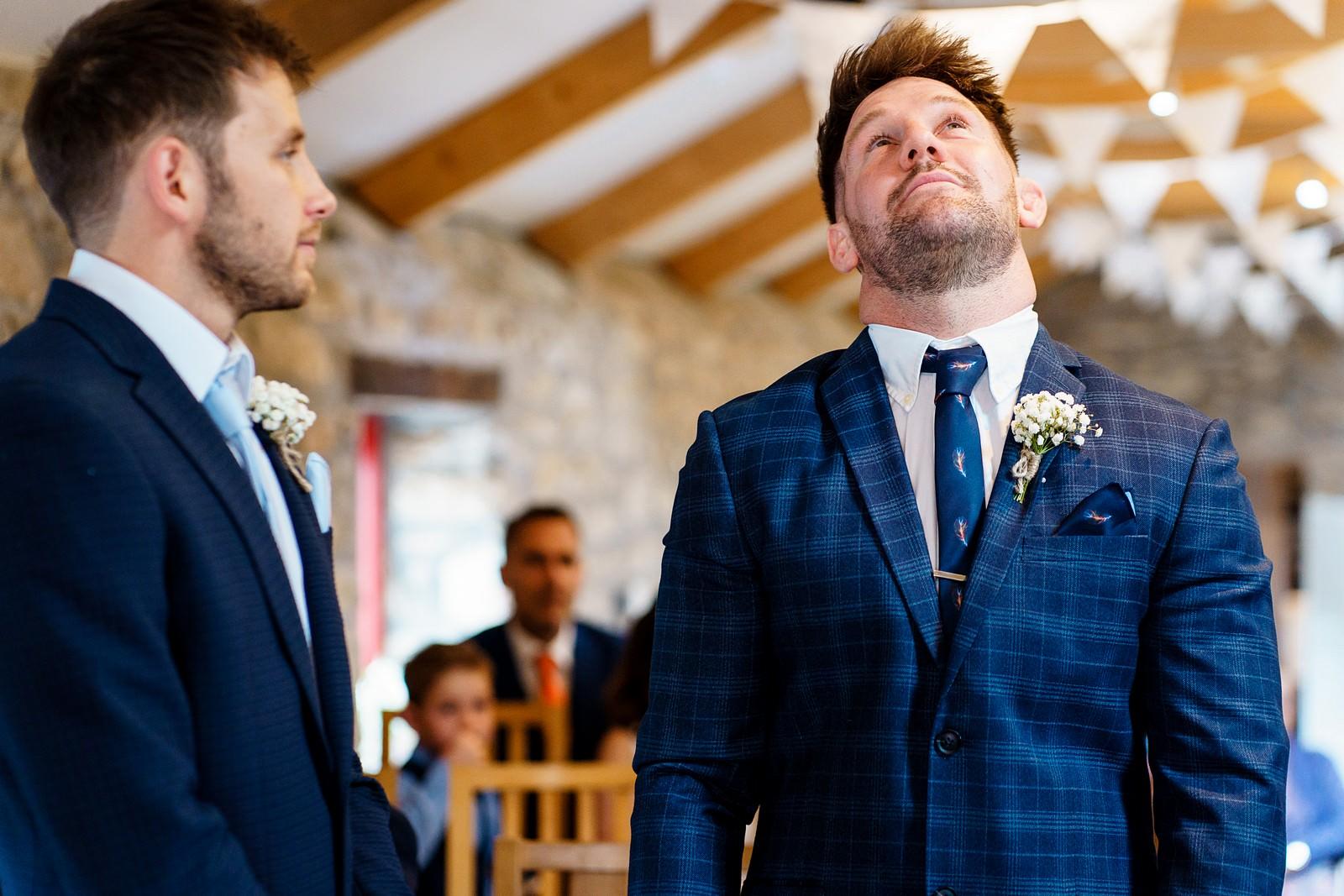 nervous groom at knightor winery 32