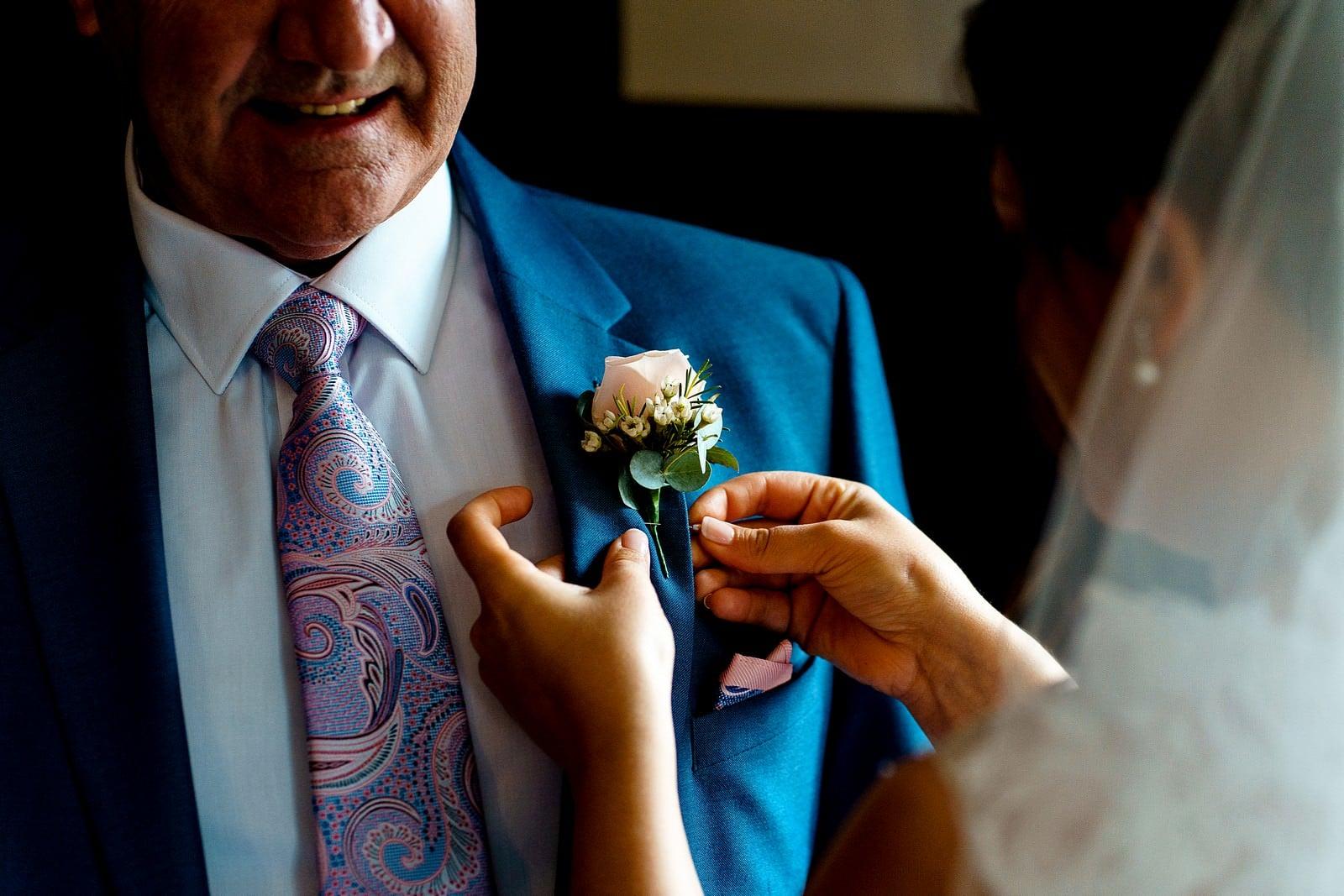 wedding button holes at ufton court 1