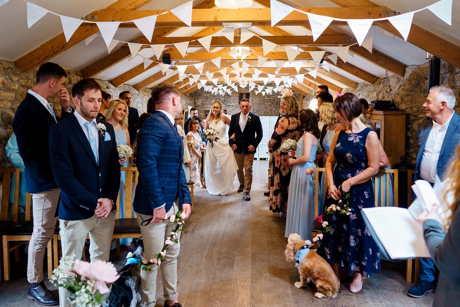 wedding ceremony at knightor winery 35