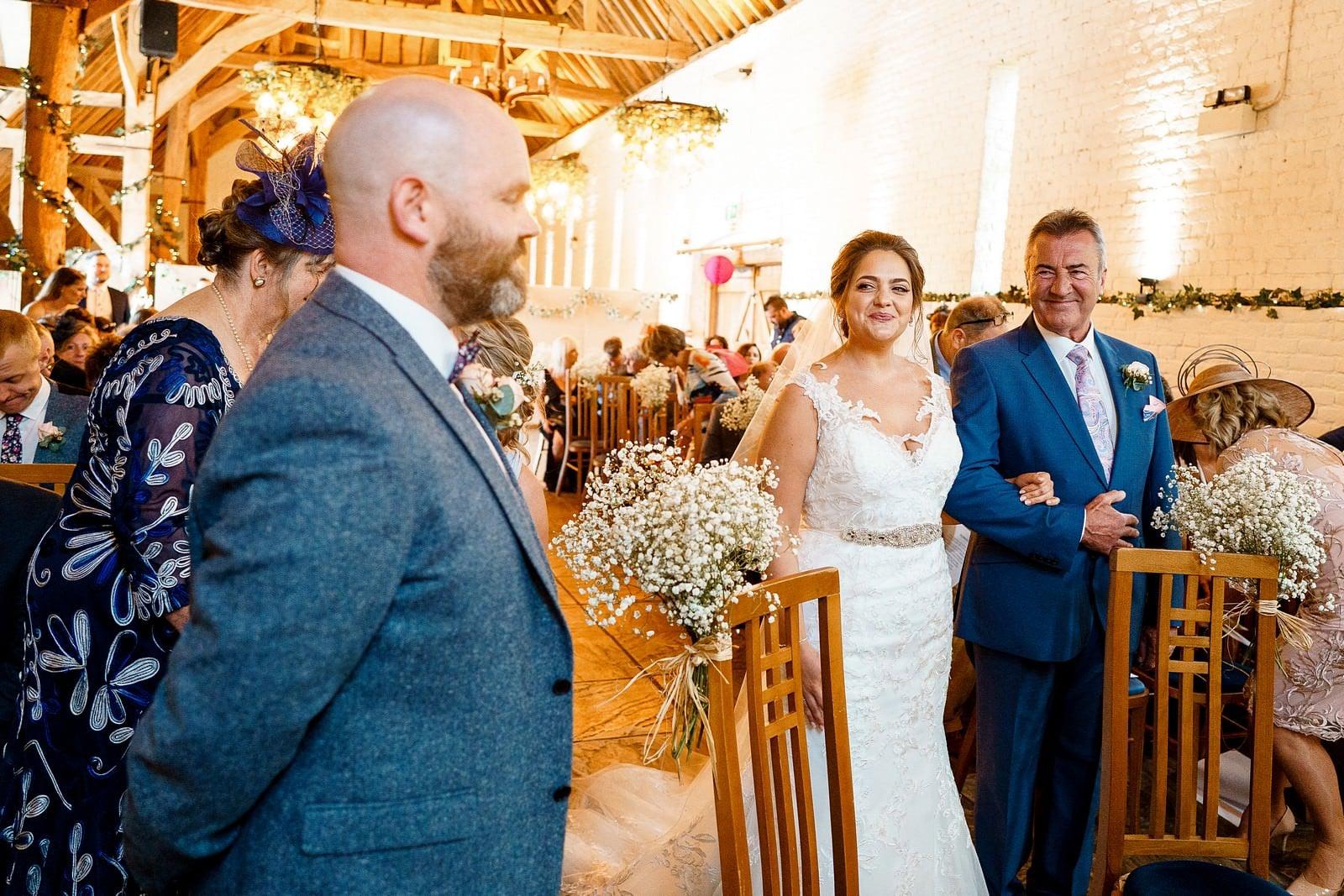 wedding ceremony at ufton court 1