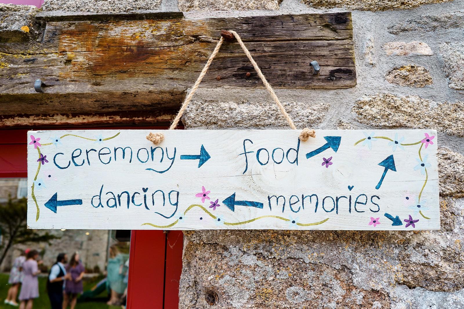 wedding signs at knightor winery 26
