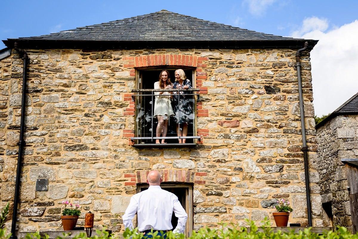 bride suite at a Trevenna barns wedding